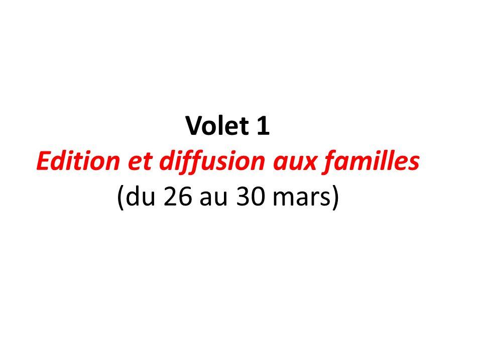 Edition et diffusion aux familles