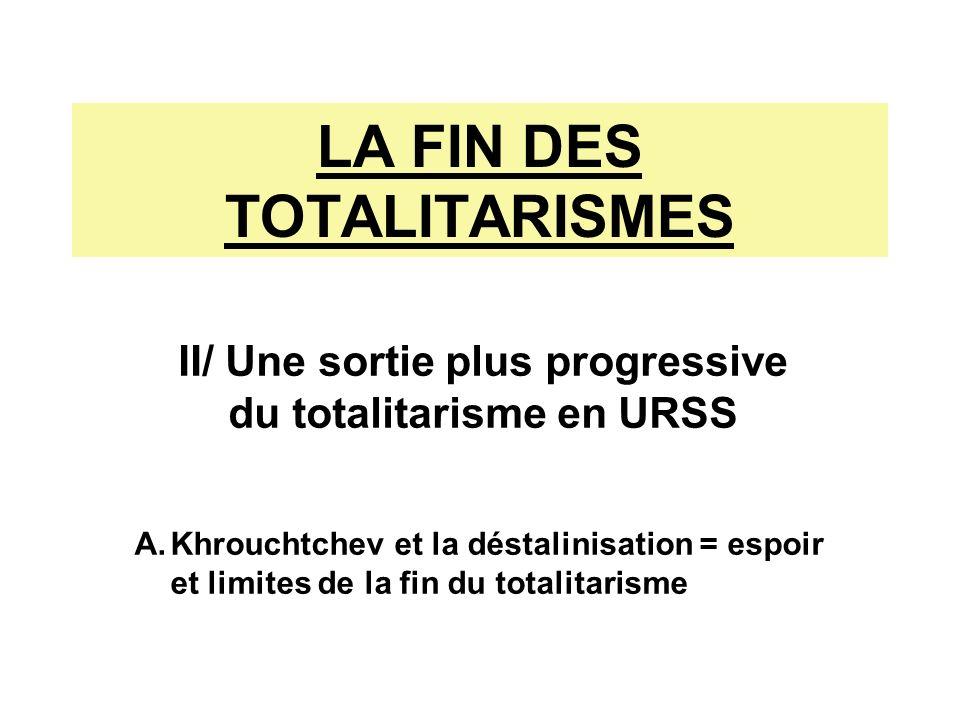 LA FIN DES TOTALITARISMES