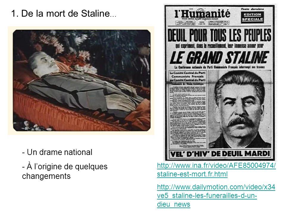 1. De la mort de Staline… Un drame national