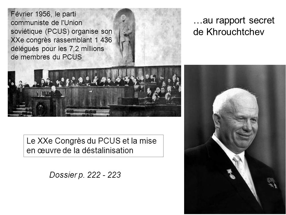 …au rapport secret de Khrouchtchev