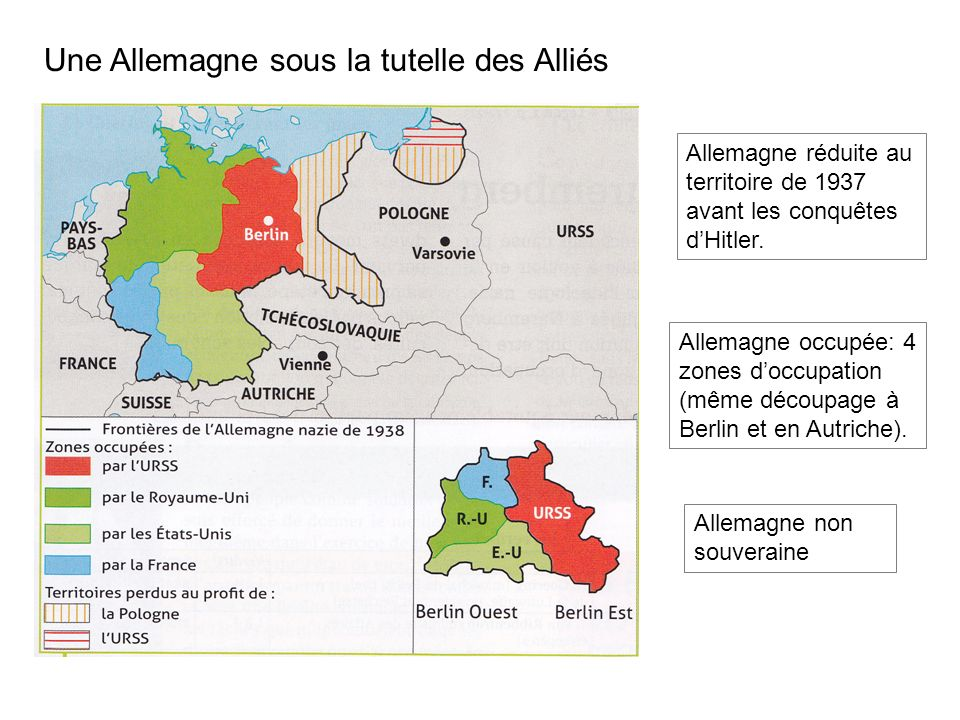 Une Allemagne sous la tutelle des Alliés