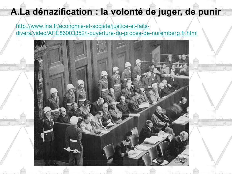 La dénazification : la volonté de juger, de punir