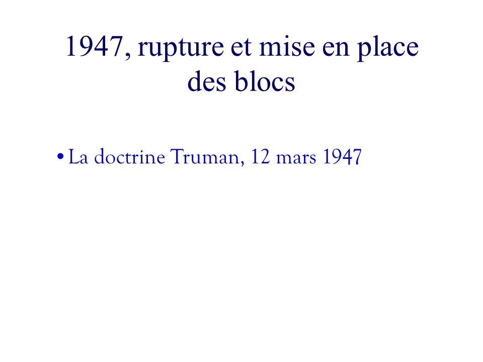 1947, rupture et mise en place des blocs