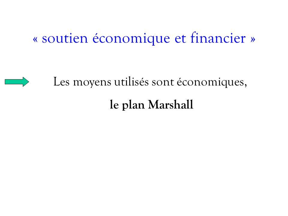 « soutien économique et financier »