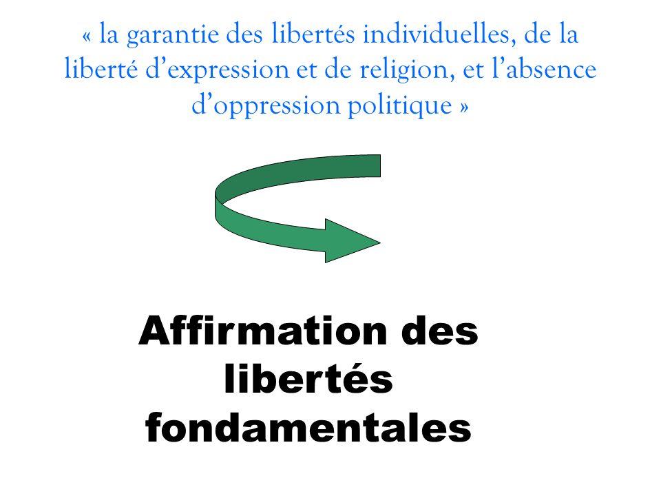 Affirmation des libertés fondamentales