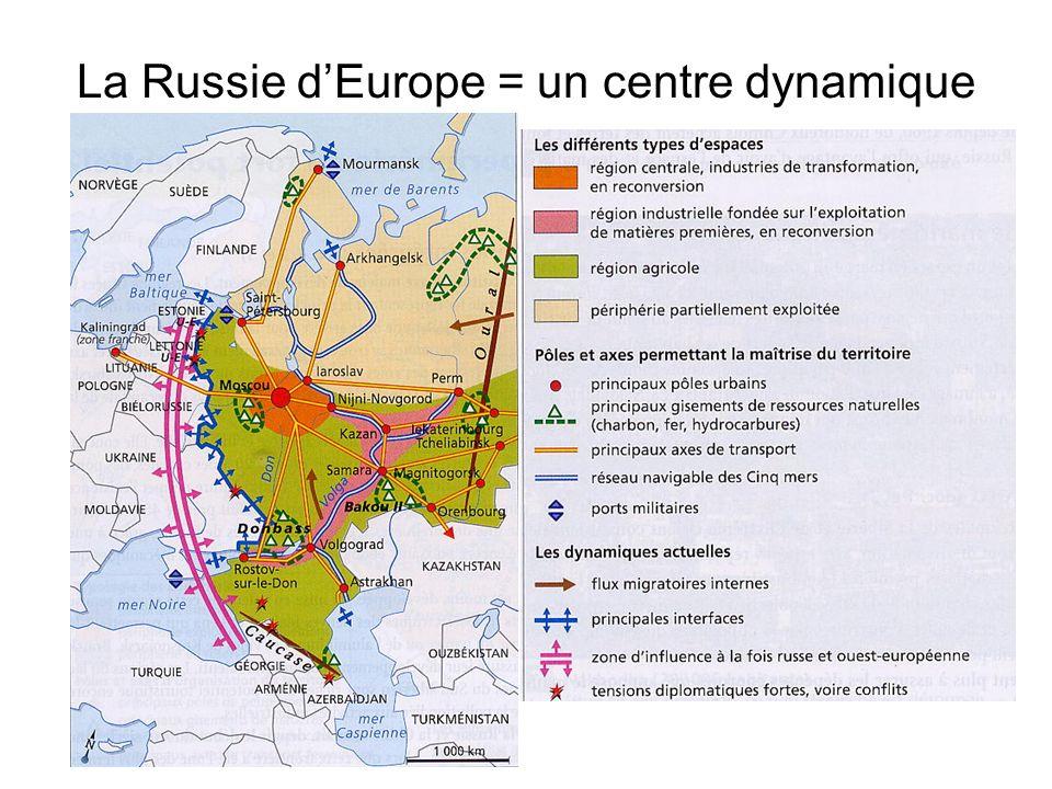 La Russie d'Europe = un centre dynamique