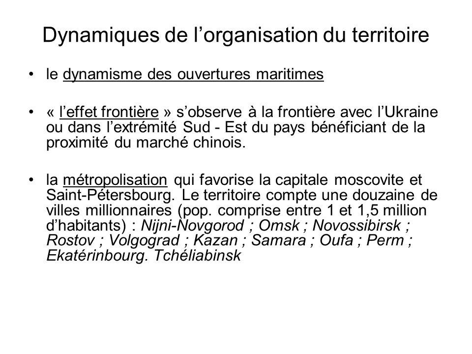 Dynamiques de l'organisation du territoire