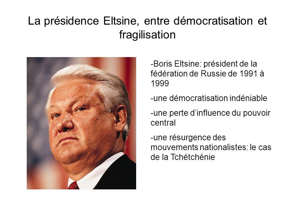 La présidence Eltsine, entre démocratisation et fragilisation