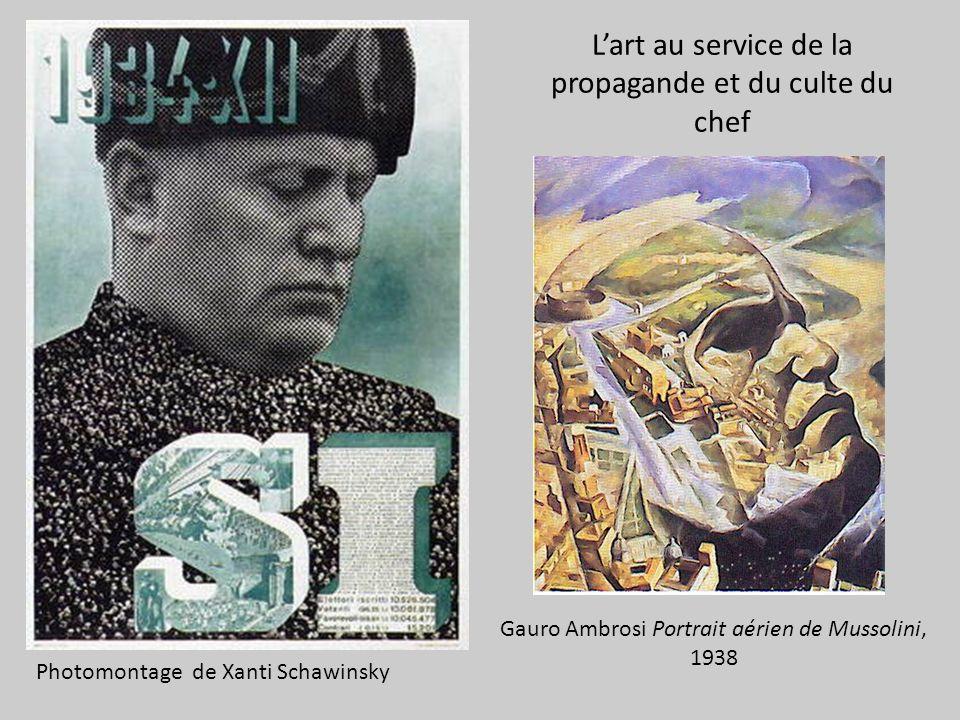L'art au service de la propagande et du culte du chef