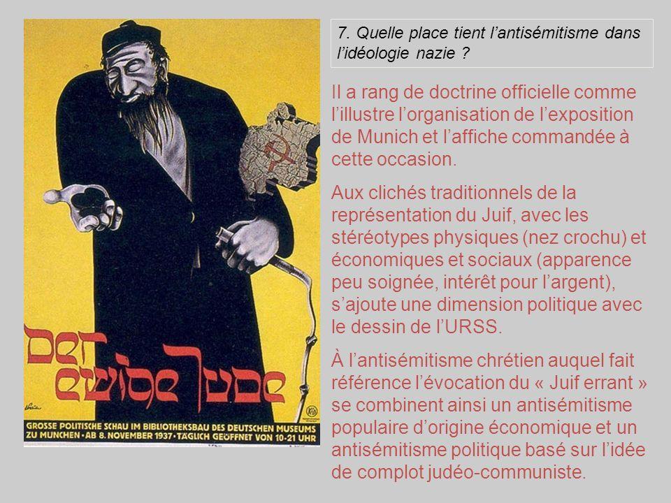 7. Quelle place tient l'antisémitisme dans l'idéologie nazie