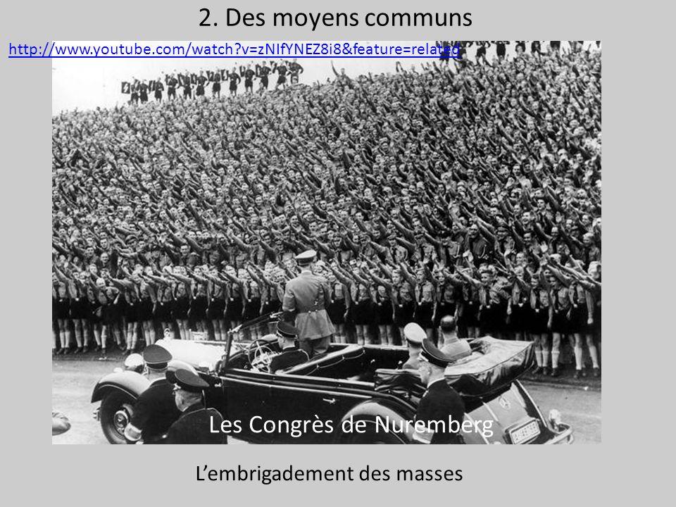 2. Des moyens communs Les Congrès de Nuremberg