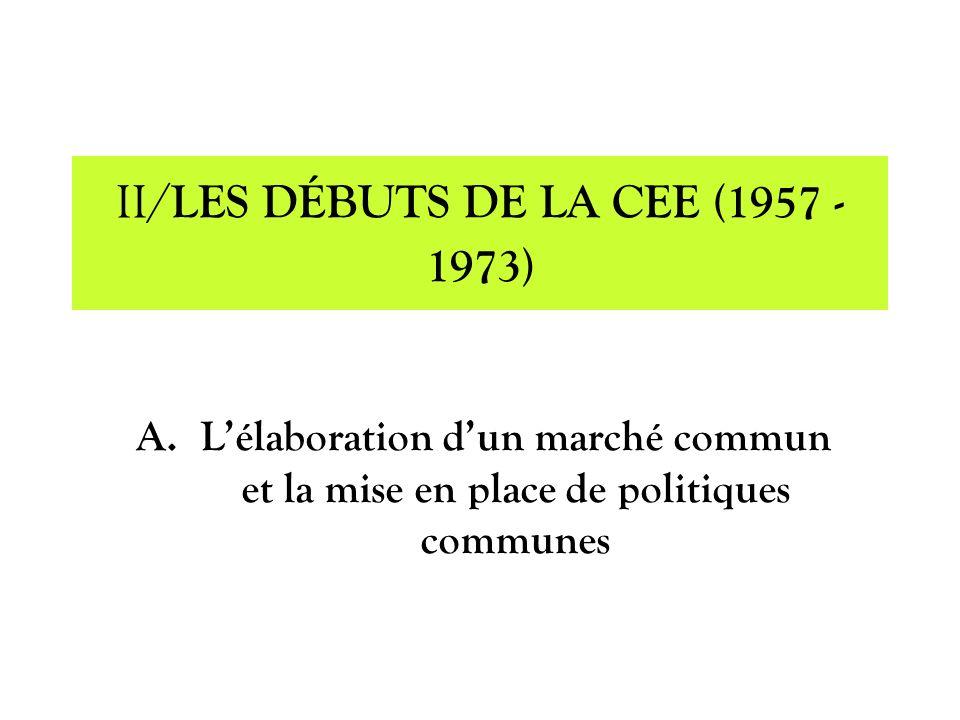 II/LES DÉBUTS DE LA CEE (1957 - 1973)