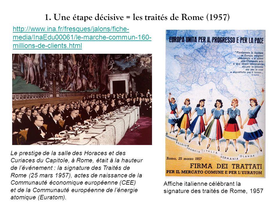 1. Une étape décisive = les traités de Rome (1957)