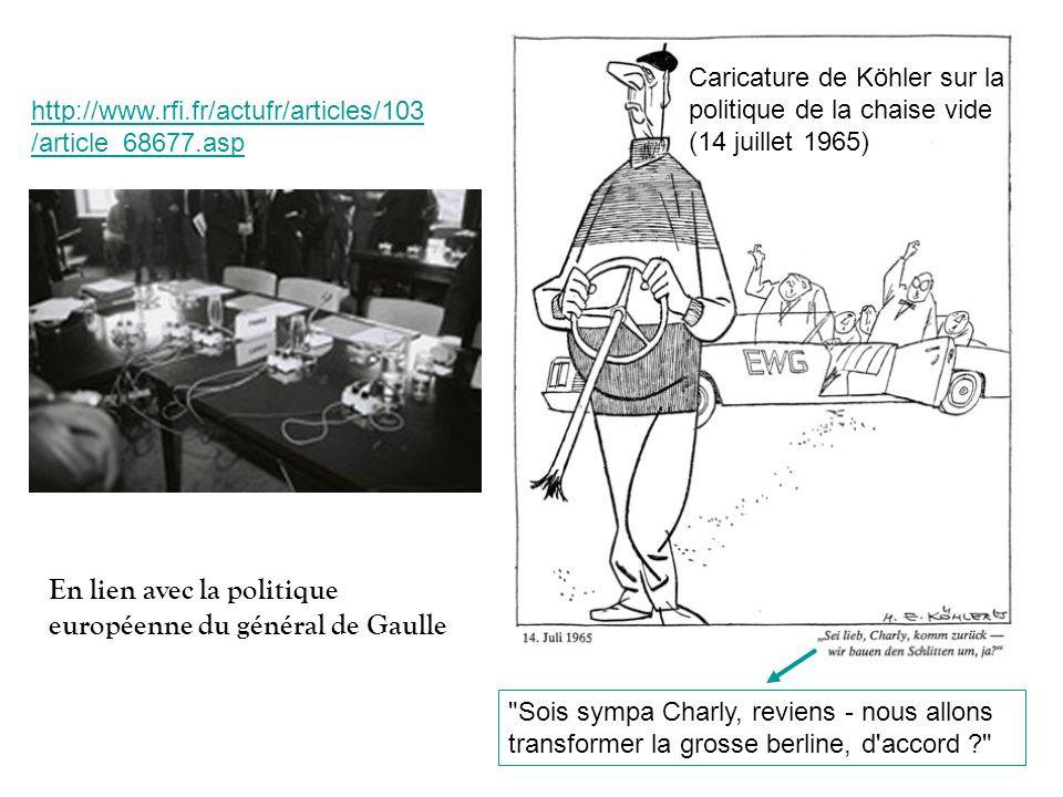 En lien avec la politique européenne du général de Gaulle