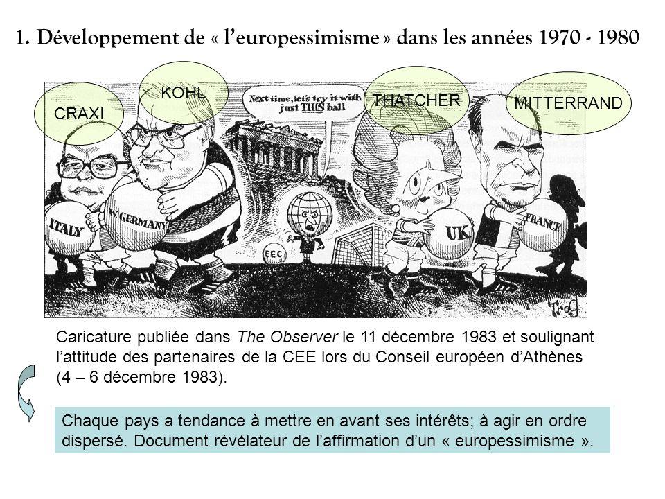 1. Développement de « l'europessimisme » dans les années 1970 - 1980