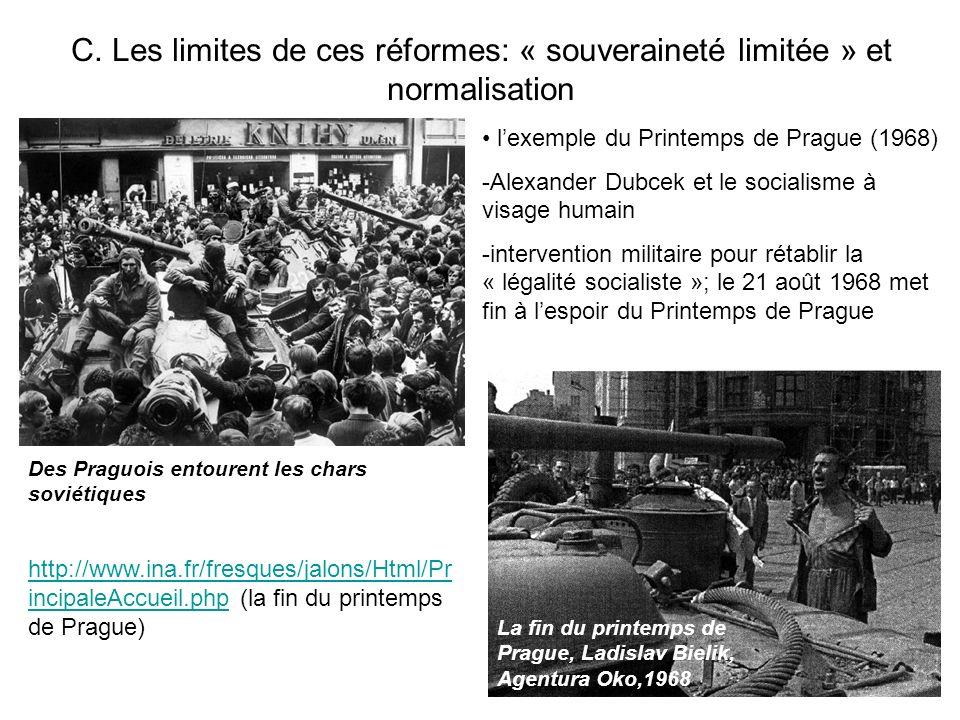 C. Les limites de ces réformes: « souveraineté limitée » et normalisation