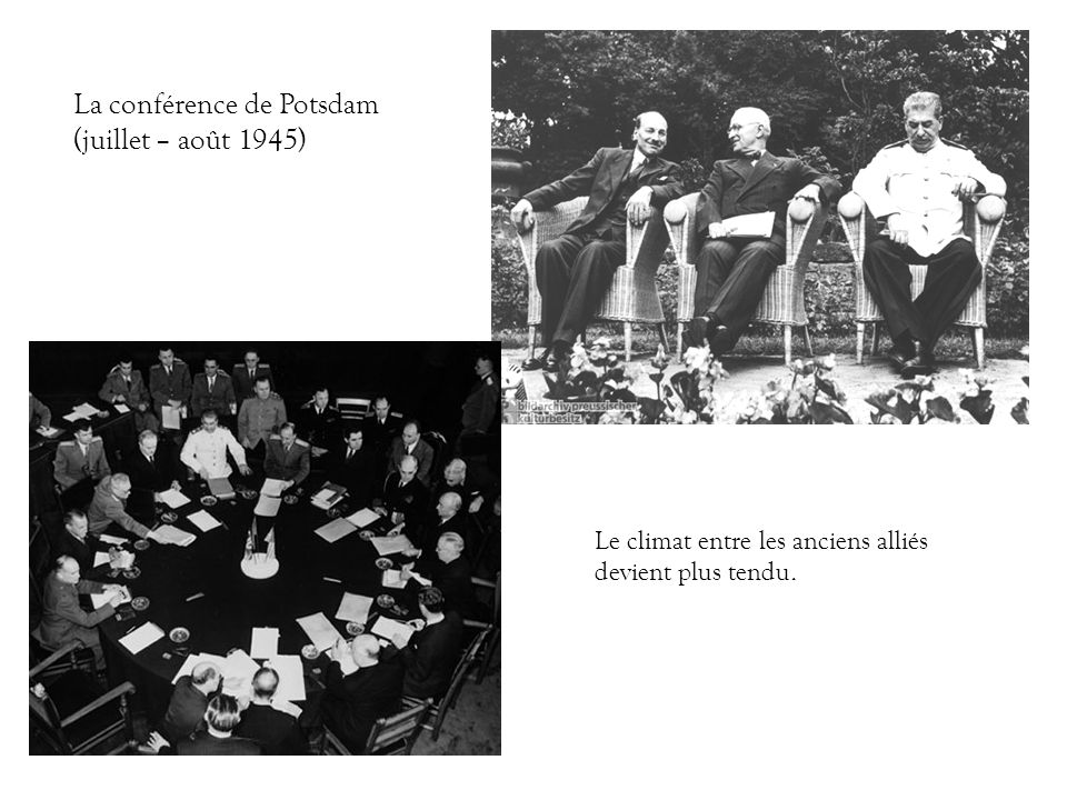 La conférence de Potsdam (juillet – août 1945)