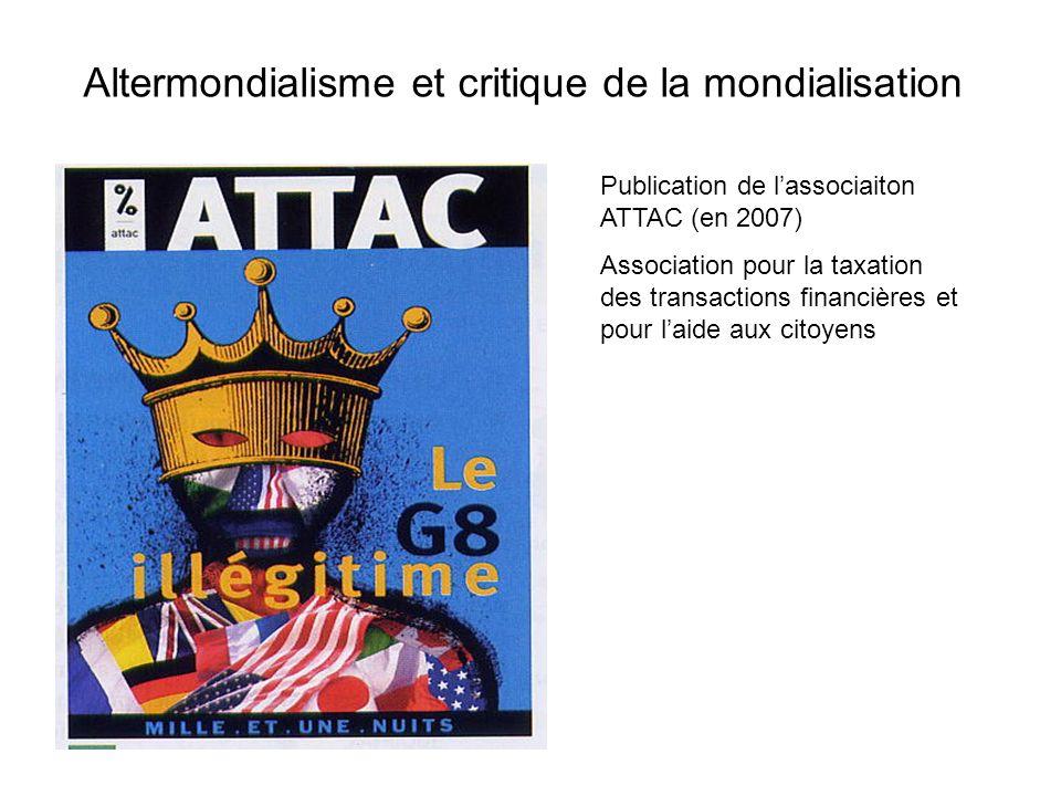 Altermondialisme et critique de la mondialisation