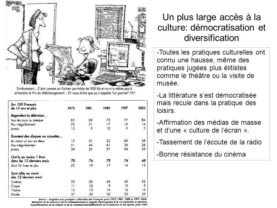 Un plus large accès à la culture: démocratisation et diversification