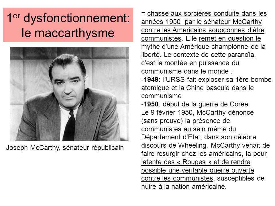 1er dysfonctionnement: le maccarthysme