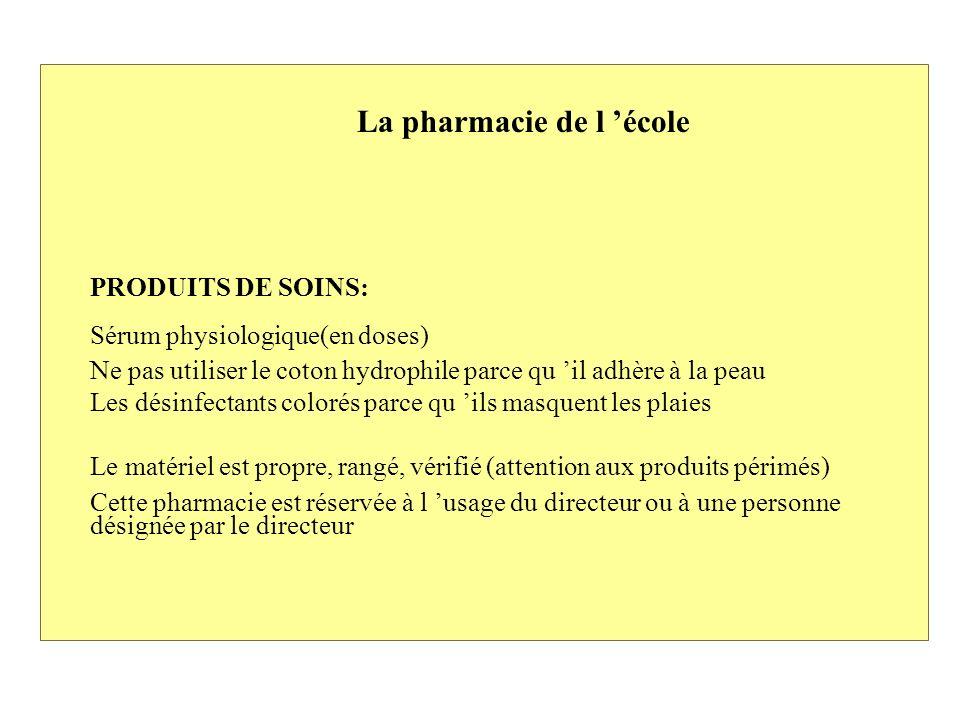 La pharmacie de l 'école