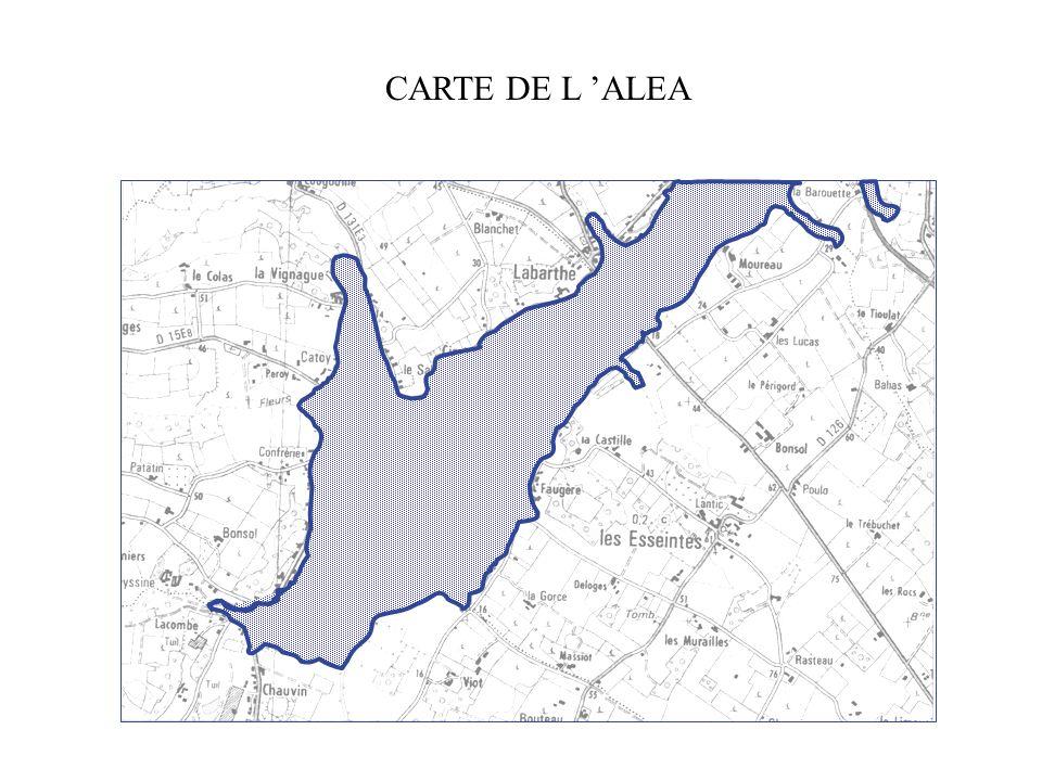 CARTE DE L 'ALEA Aide pédagogique