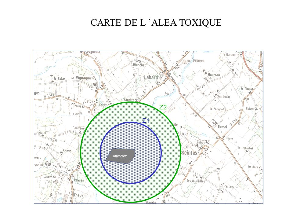 CARTE DE L 'ALEA TOXIQUE