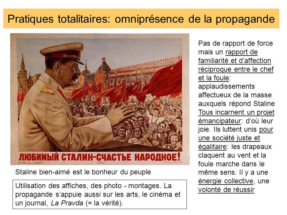 Pratiques totalitaires: omniprésence de la propagande
