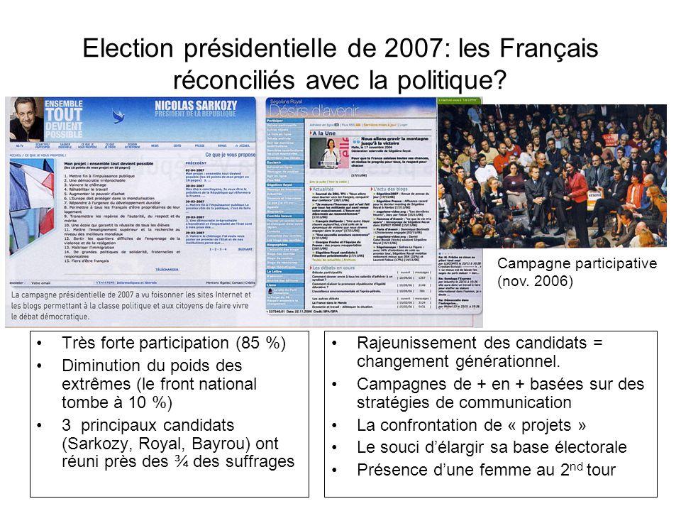 Election présidentielle de 2007: les Français réconciliés avec la politique
