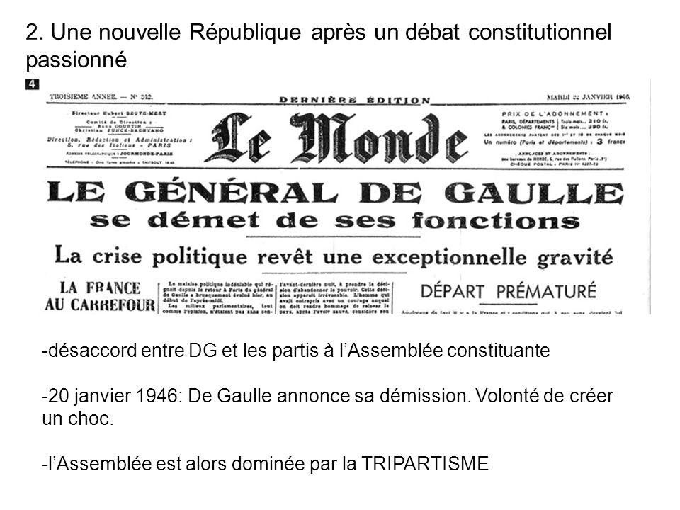 2. Une nouvelle République après un débat constitutionnel passionné