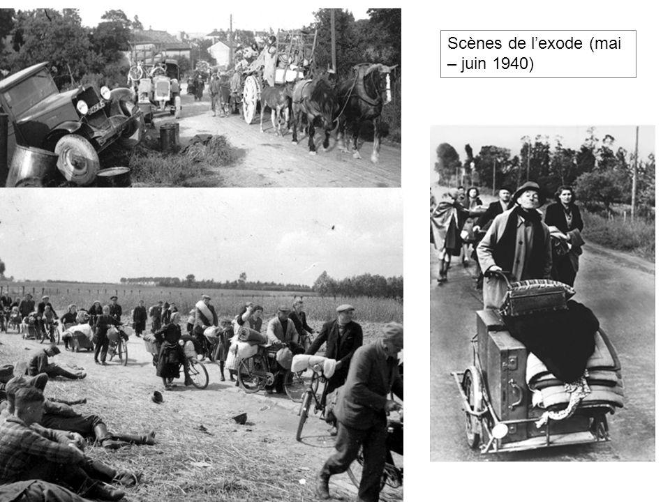 Scènes de l'exode (mai – juin 1940)