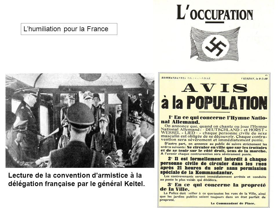 L'humiliation pour la France