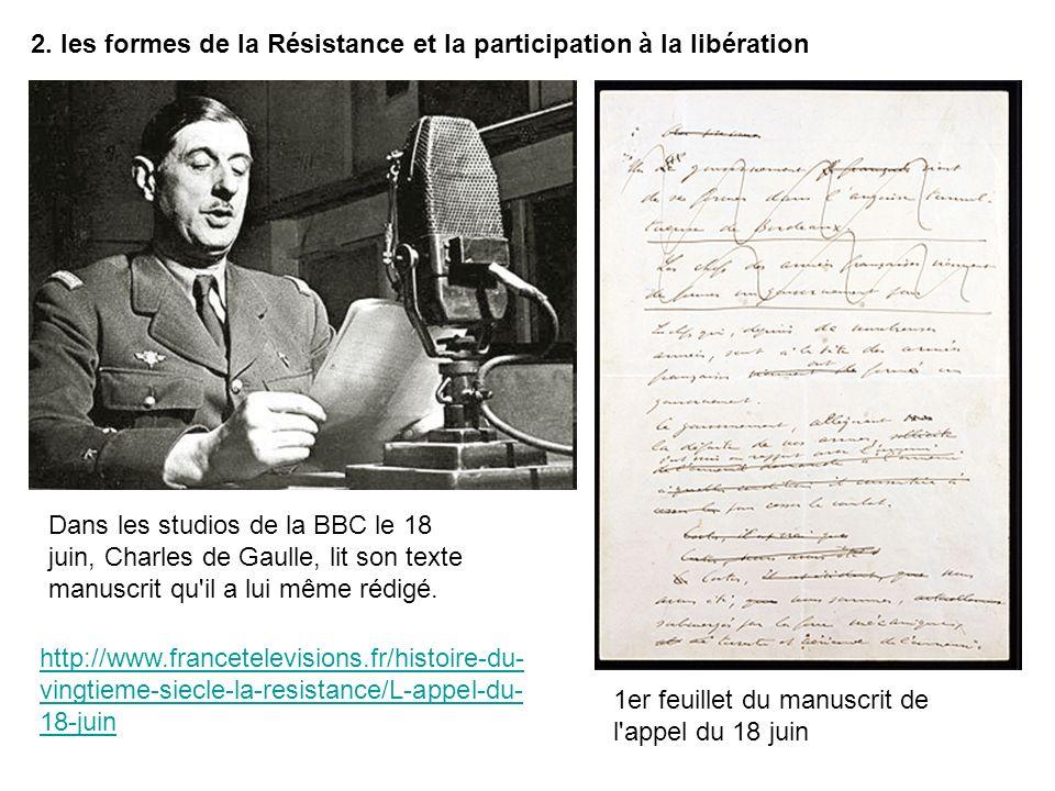 2. les formes de la Résistance et la participation à la libération