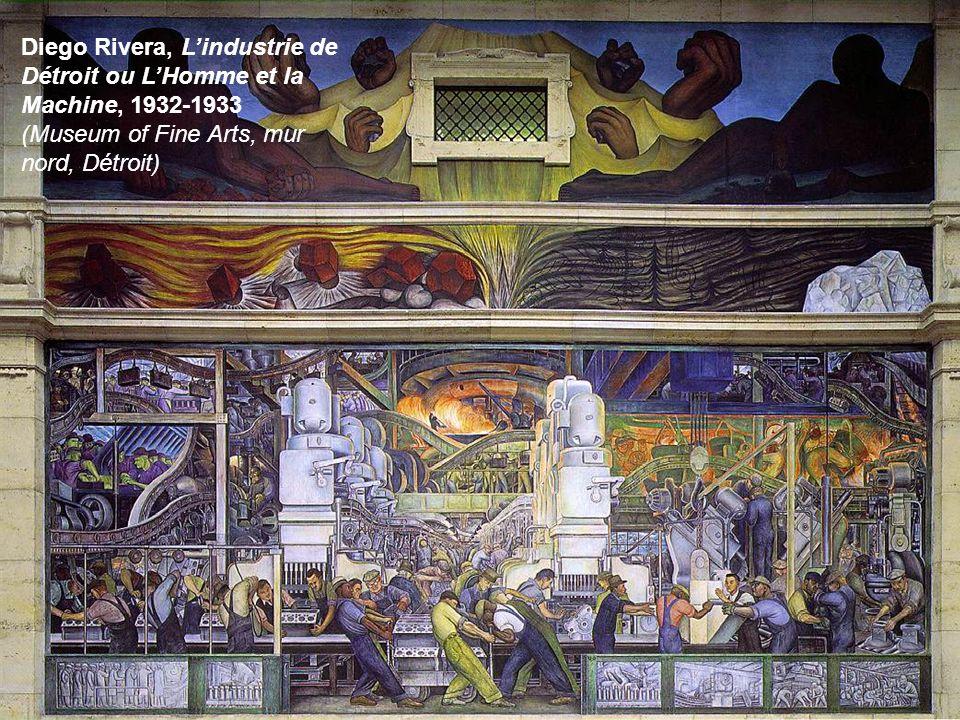 Diego Rivera, L'industrie de Détroit ou L'Homme et la Machine, 1932-1933