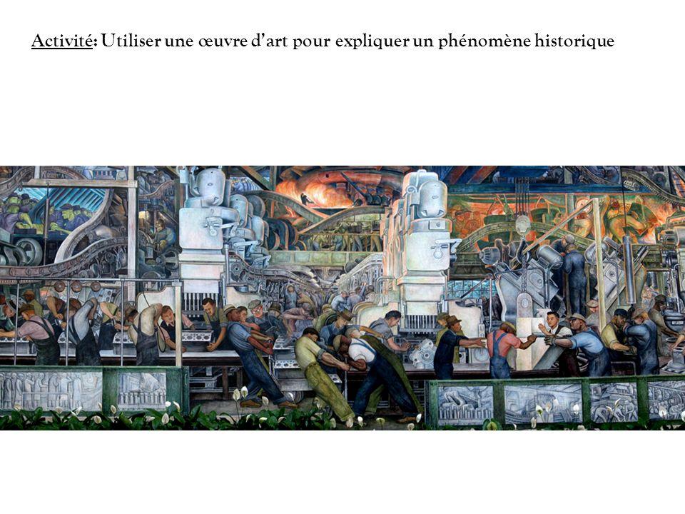 Activité: Utiliser une œuvre d'art pour expliquer un phénomène historique