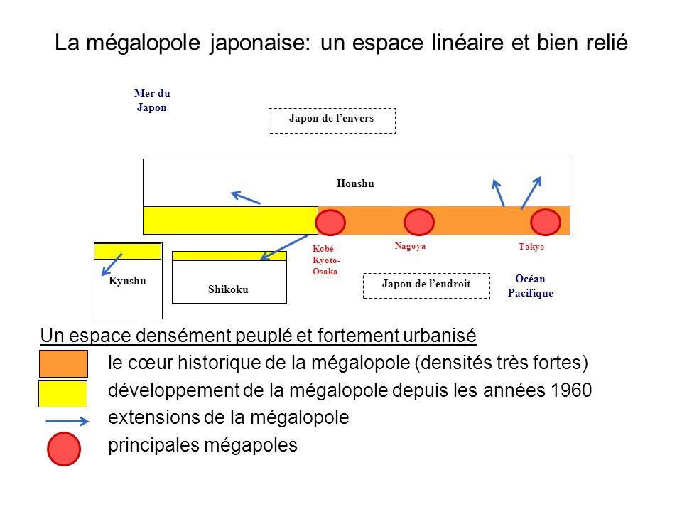 La mégalopole japonaise: un espace linéaire et bien relié
