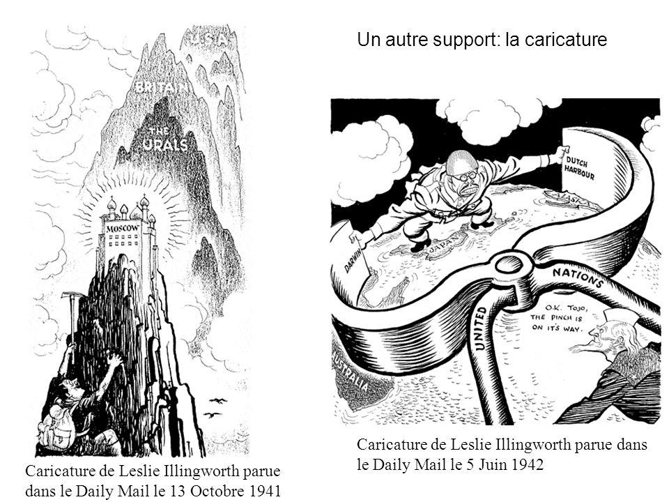 Un autre support: la caricature