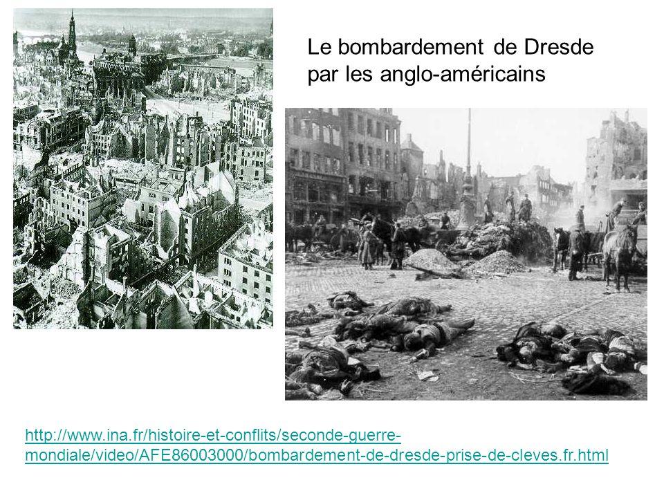 Le bombardement de Dresde par les anglo-américains