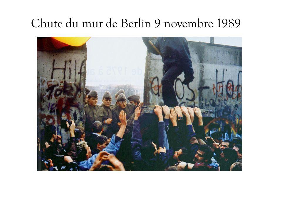 Chute du mur de Berlin 9 novembre 1989