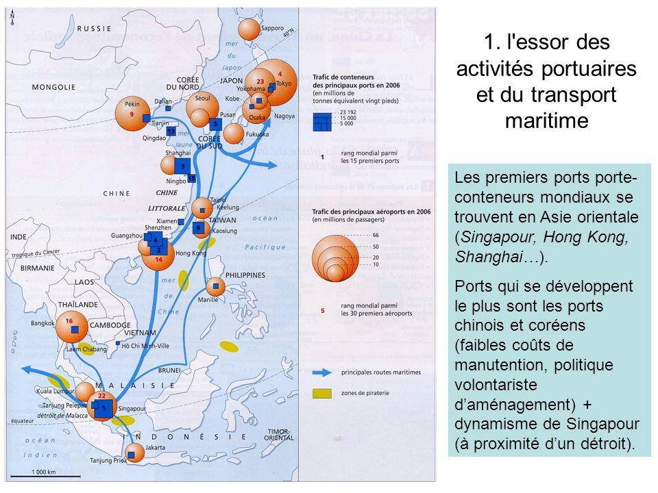 1. l essor des activités portuaires et du transport maritime