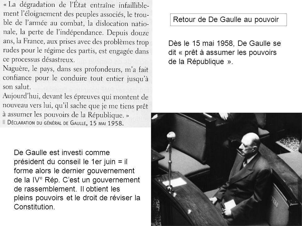 Retour de De Gaulle au pouvoir