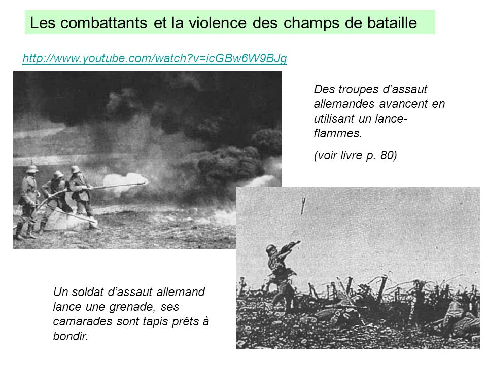 Les combattants et la violence des champs de bataille