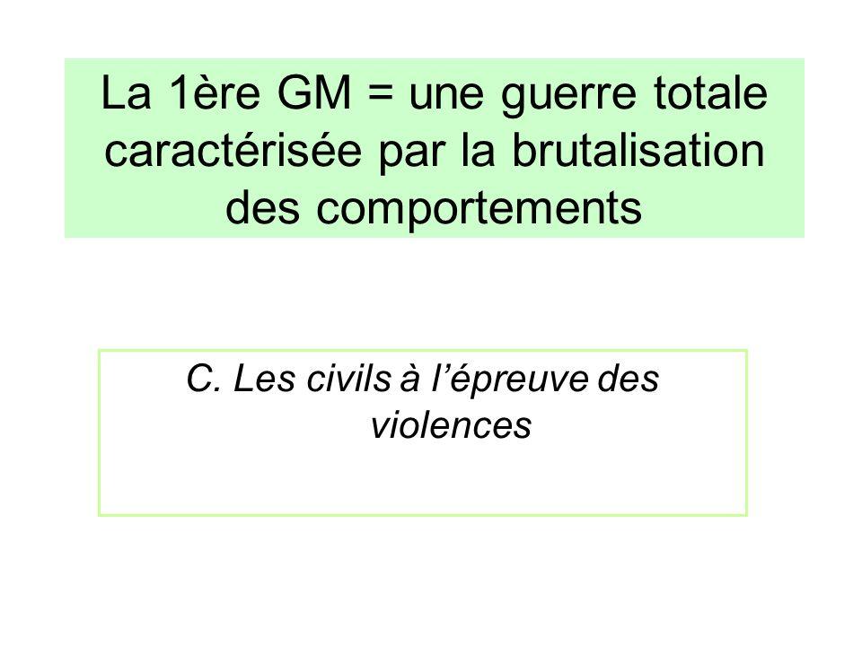 C. Les civils à l'épreuve des violences