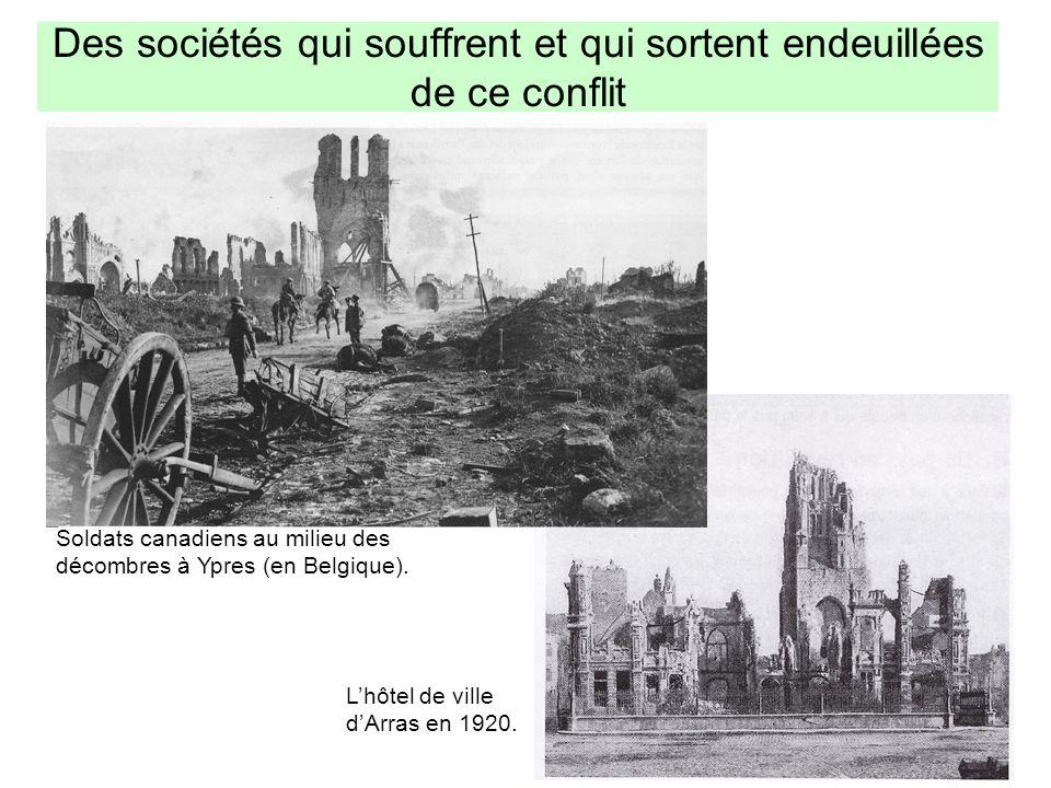 Des sociétés qui souffrent et qui sortent endeuillées de ce conflit