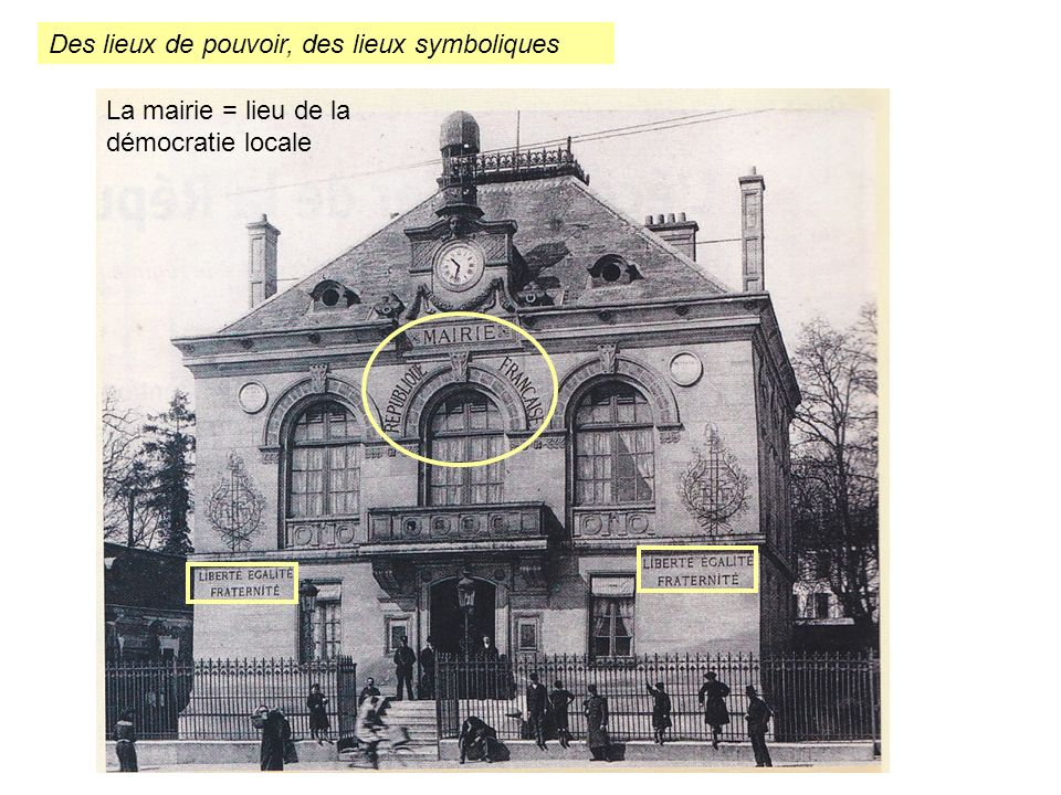 Des lieux de pouvoir, des lieux symboliques