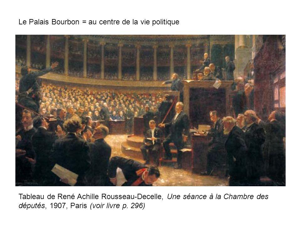Le Palais Bourbon = au centre de la vie politique