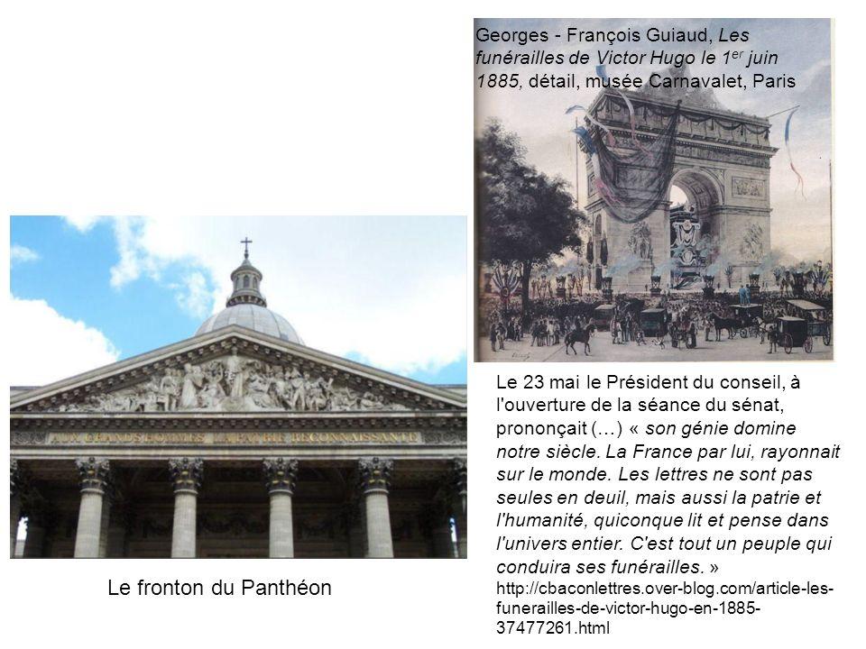Georges - François Guiaud, Les funérailles de Victor Hugo le 1er juin 1885, détail, musée Carnavalet, Paris