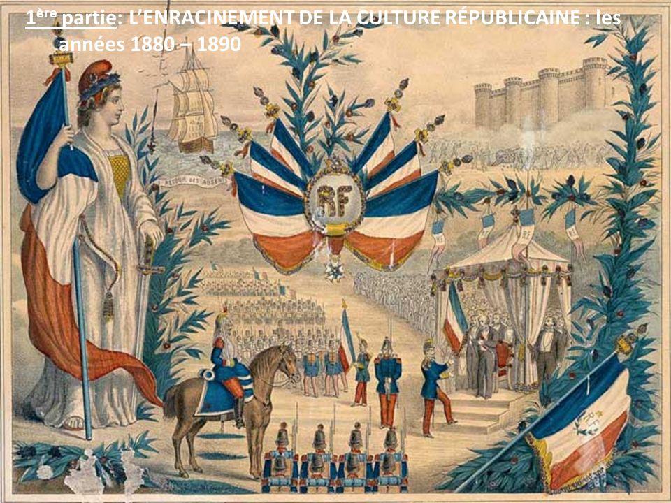 1ère partie: L'ENRACINEMENT DE LA CULTURE RÉPUBLICAINE : les années 1880 – 1890