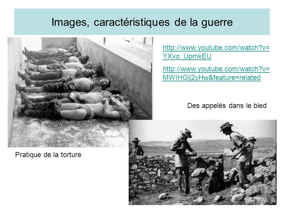 Images, caractéristiques de la guerre