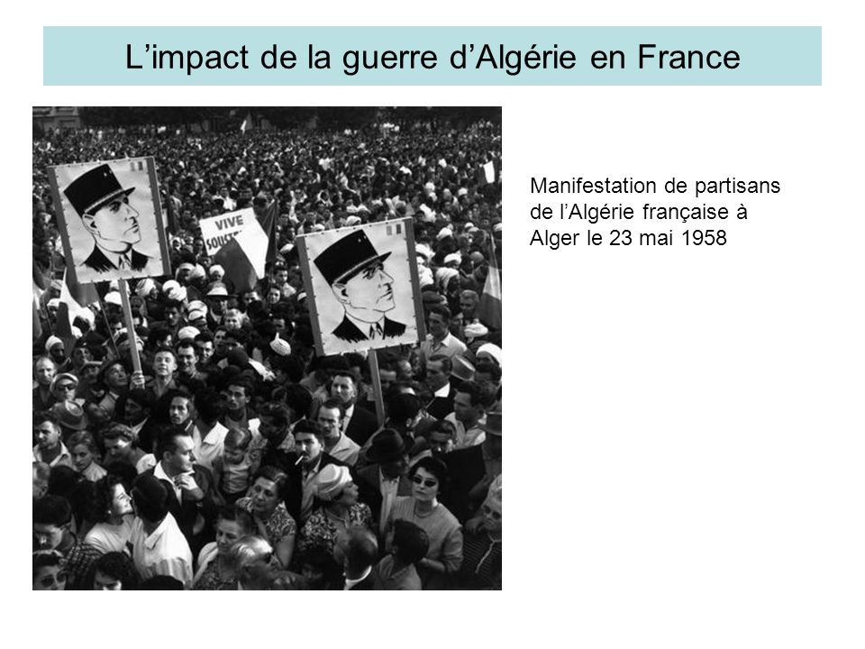 L'impact de la guerre d'Algérie en France